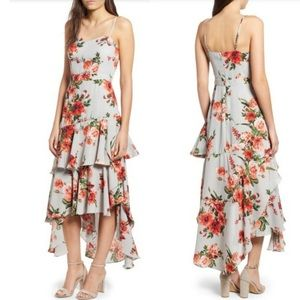 Leith Floral Ruffle Maxi Dress
